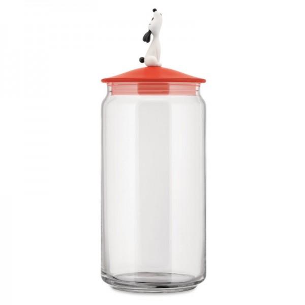 Alessi Lula Jar for Dog Food Red Orange