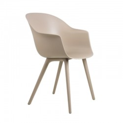 Gubi Bat Dining Chair, Plastic Edition Outdoor