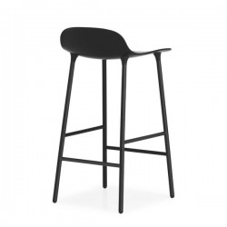 Normann Copenhagen Form Barstool Black Steel 65cm