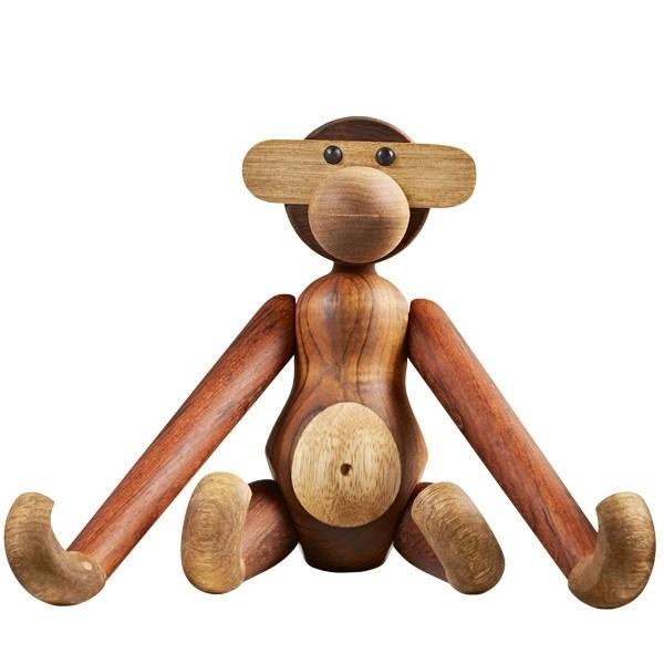 Teak, limba wood Height 28 cm