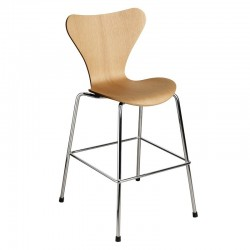 Fritz Hansen Series 7 Junior chair Oak Chrome