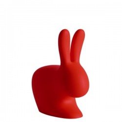 Qeeboo Rabbit Red Chair Baby Limited Edition