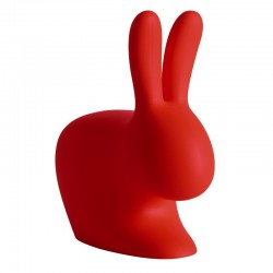 Qeeboo Rabbit Chair Large Red Limited Edition