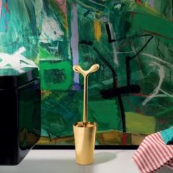 Alessi Merdolino Toilet Brush Gold