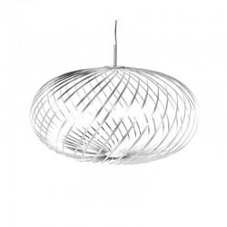 Tom Dixon Spring Pendant Lamp Silver Medium
