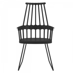 Kartell Comback Sled Chair Black