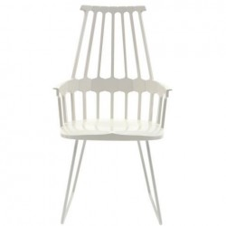 Kartell Comback Sled Chair White
