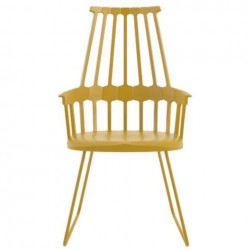 Kartell Comback Sled Chair Yellow