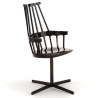 Kartell Comback Swivel Chair All Black