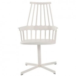 Kartell Comback Swivel Chair All White