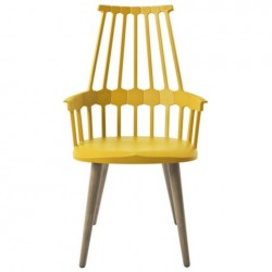 Kartell Comback Chair Wooden Legs Yellow / Oak legs