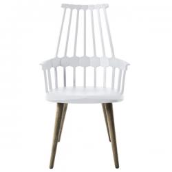 Kartell Comback Chair Wooden Legs White / Oak legs