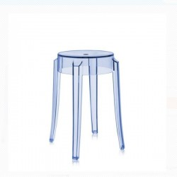 Kartell Charles Ghost Stool Small Blue Sale