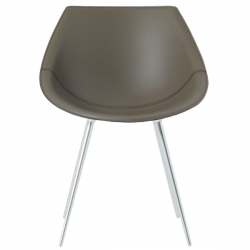 Driade Lago Leather Chair Olive Green leather
