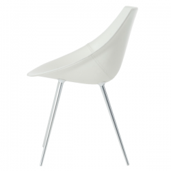Driade Lago Leather Chair White