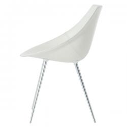Driade Lago Leather Chair White