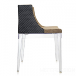 Kartell Mademoiselle Chair Kravitz Seat and Back raffia fabric