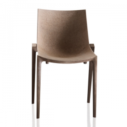 Magis Zartan Eco Chair Beige seat/ brown legs