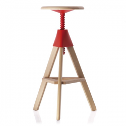 Magis Tom and Jerry Stool Fame natural/ Seat red