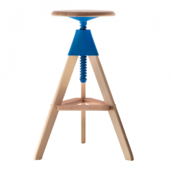 Magis Tom and Jerry Stool Fame natural/ Seat blue