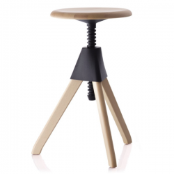 Magis Tom and Jerry Stool Fame natural/ Seat black