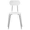 Magis Mariolina Chair White, chrome frame
