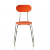 Magis Mariolina Chair Orange, chrome frame