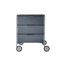 Kartell Mobil by Antonio Citterio 3 Drawers Opaque Slate (not transparent)