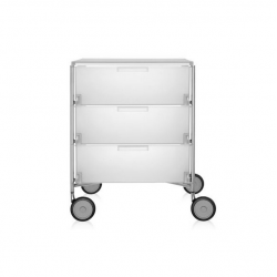Kartell Mobil by Antonio Citterio 3 Drawers Opaque Ice