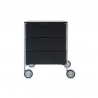 Kartell Mobil by Antonio Citterio 3 Drawers Glossy Smoke