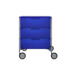Kartell Mobil by Antonio Citterio 3 Drawers Opaque Cobalt blue