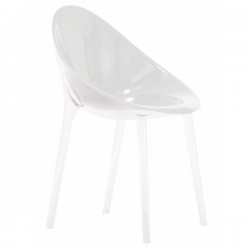 Kartell Mr Impossible Chair Solid glossy white
